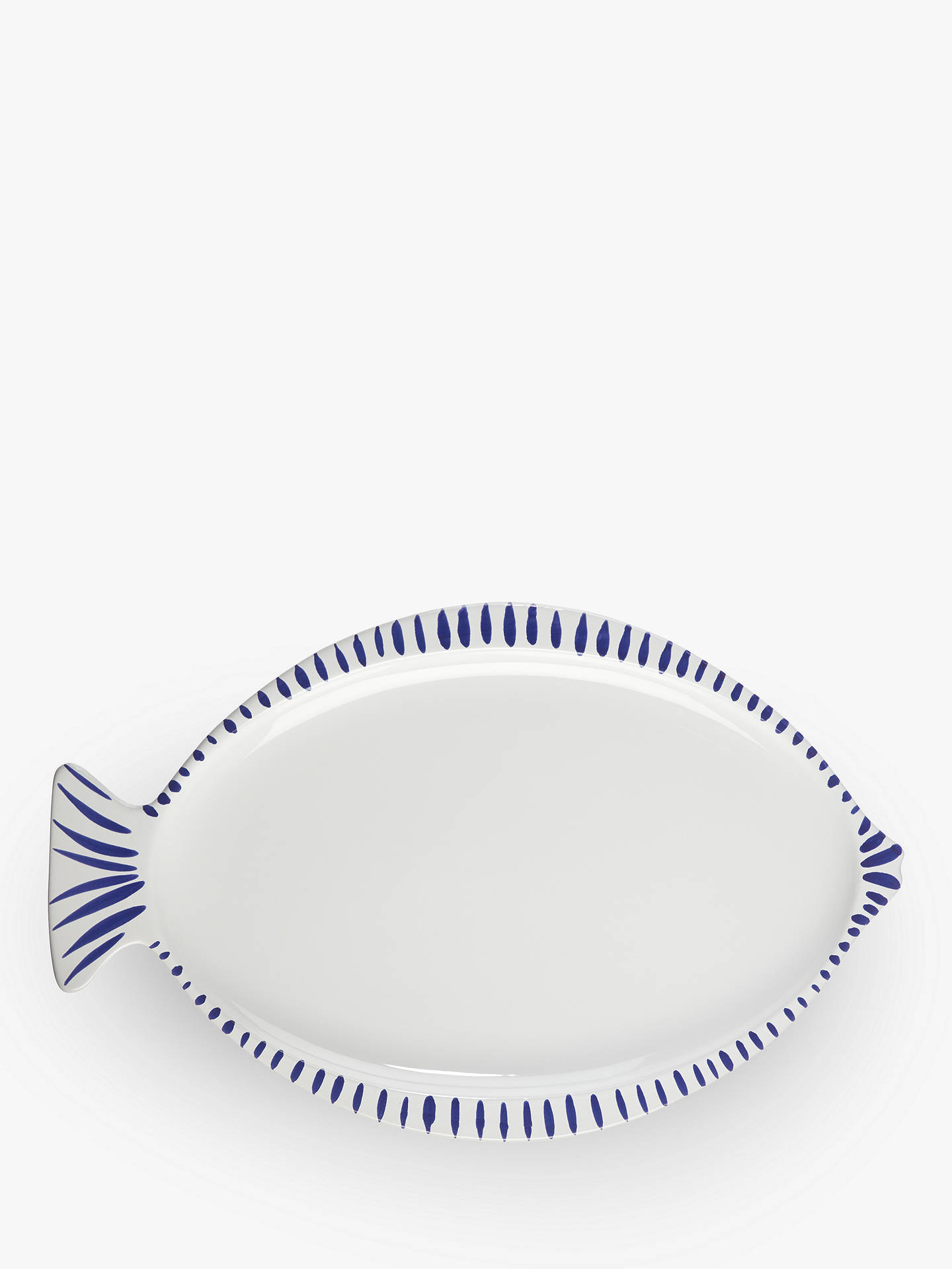 BuyJohn Lewis & Partners Fishy Platter, L41cm, White/Blue Online at johnlewis.com