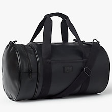 Buy Fred Perry Saffiano Barrel Bag, Black Online at johnlewis.com