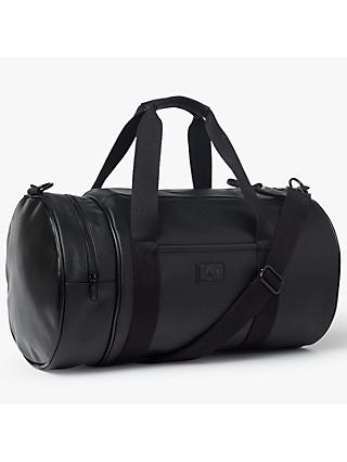 Fred Perry Saffiano Barrel Bag, Black