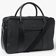 Buy Fred Perry Saffiano Overnight Bag, Black Online at johnlewis.com