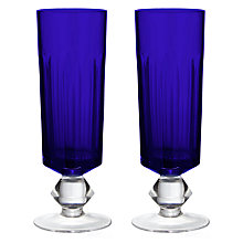 Buy Dartington Crystal The Collection Champagne Flutes, Cobalt, 155ml, Set of 2 Online at johnlewis.com