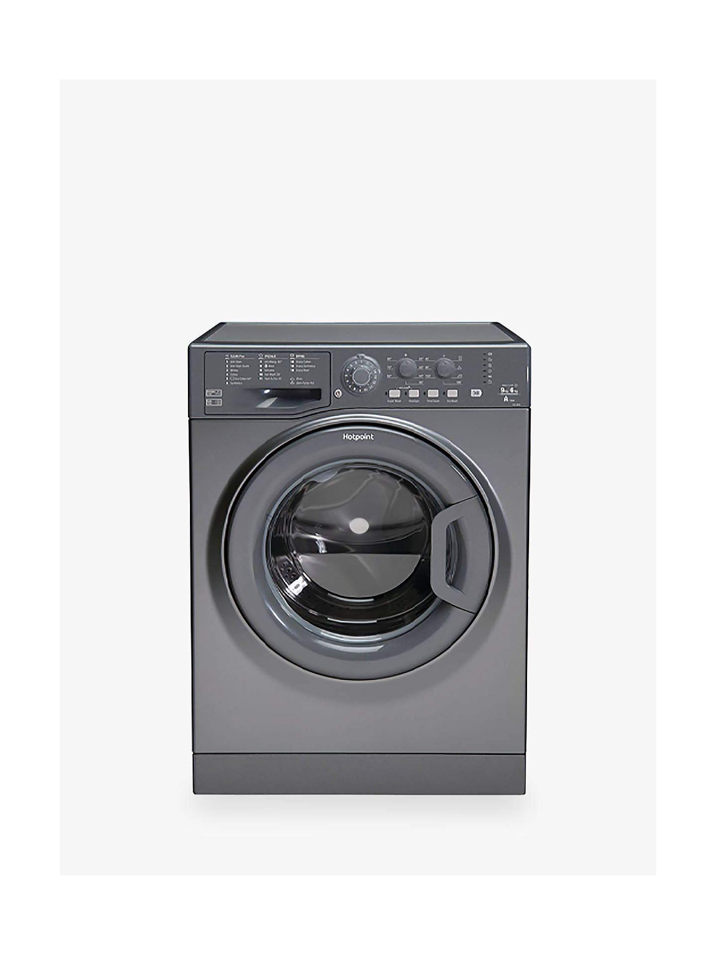 Buy Hotpoint FDL9640G UK Freestanding Washer Dryer, 9kg Wash/6kg Dry Load, A Energy Rating, 1400rpm Spin, Grey/Graphite Online at johnlewis.com
