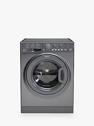 Hotpoint FDL9640G UK Freestanding Washer Dryer, 9kg Wash/6kg Dry Load, A Energy Rating, 1400rpm Spin, Grey/Graphite