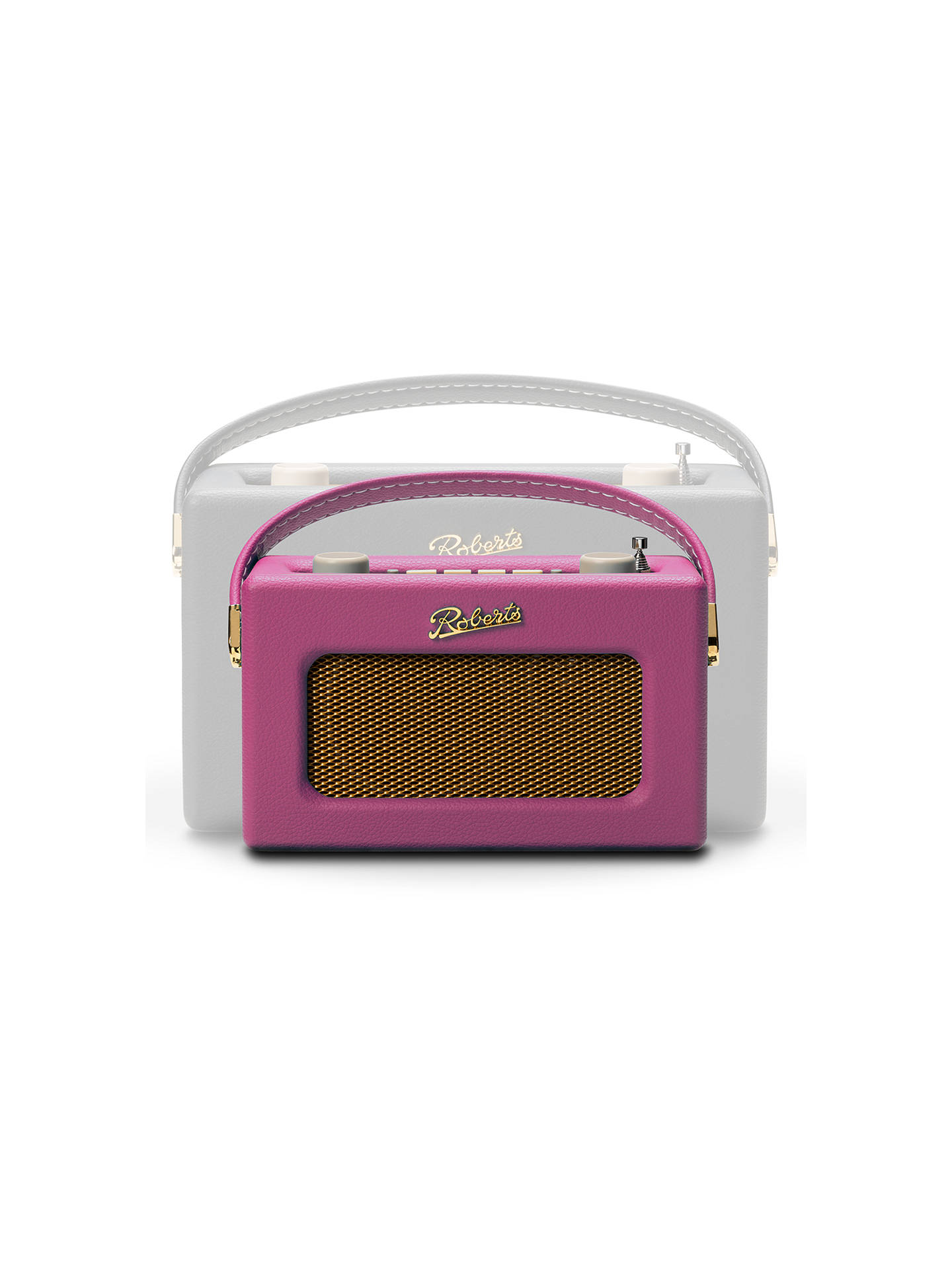 Buy ROBERTS Revival Uno DAB/DAB+/FM Digital Radio with Alarm, Pink Cadillac Online at johnlewis.com