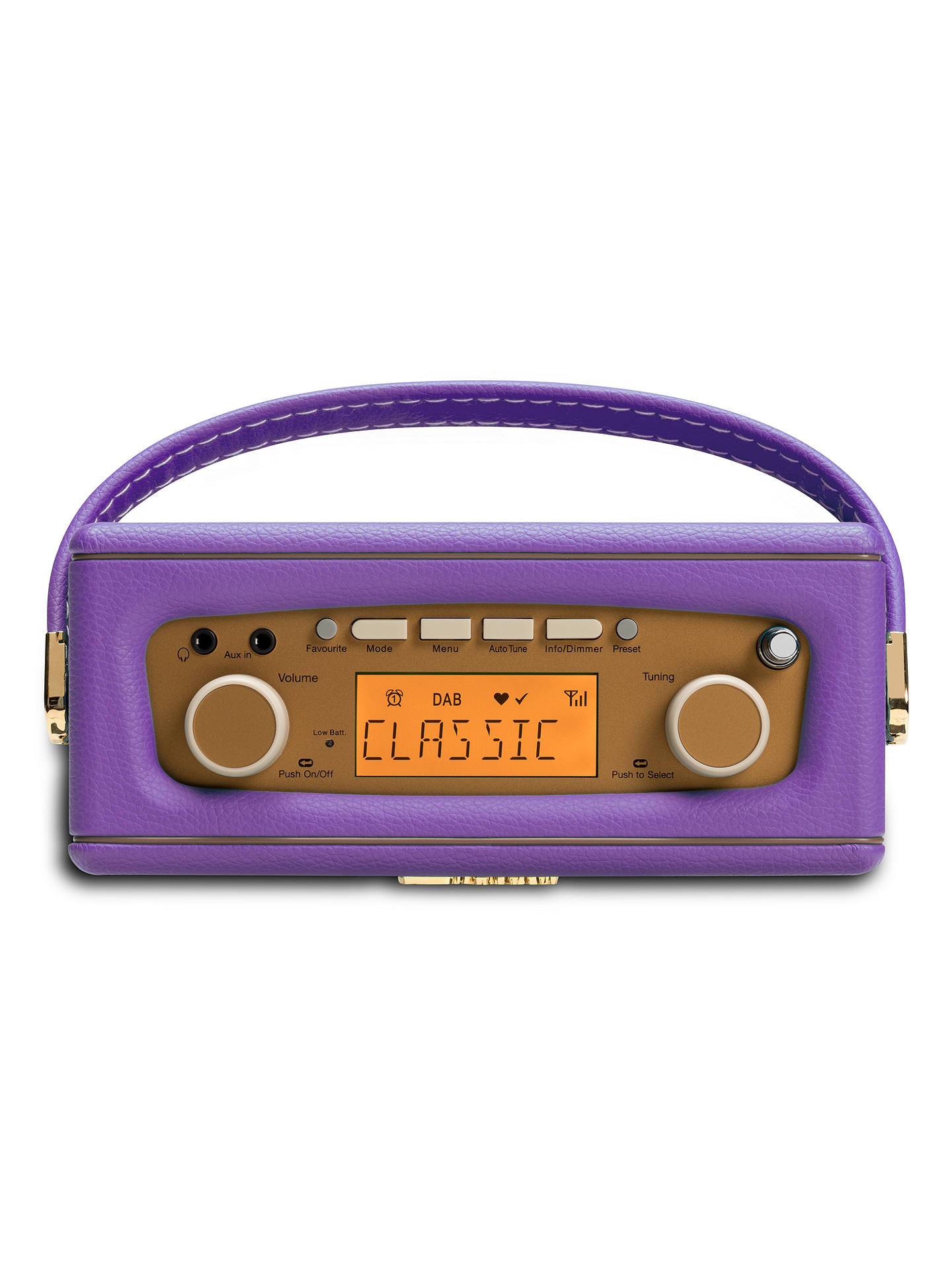BuyROBERTS Revival Uno DAB/DAB+/FM Digital Radio with Alarm, Purple Online at johnlewis.com