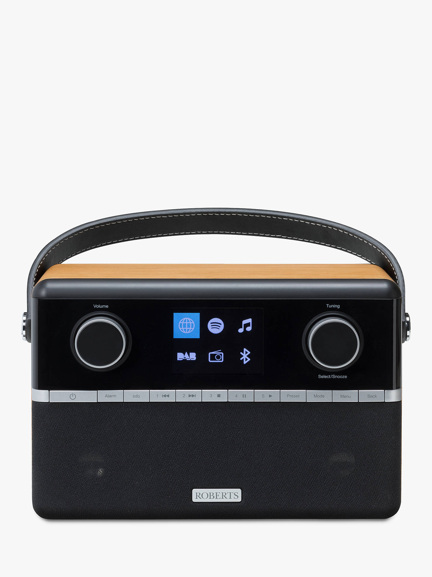 Buy ROBERTS Stream 94i DAB+/FM/Internet Smart Radio with Bluetooth, Black/Wood Online at johnlewis.com