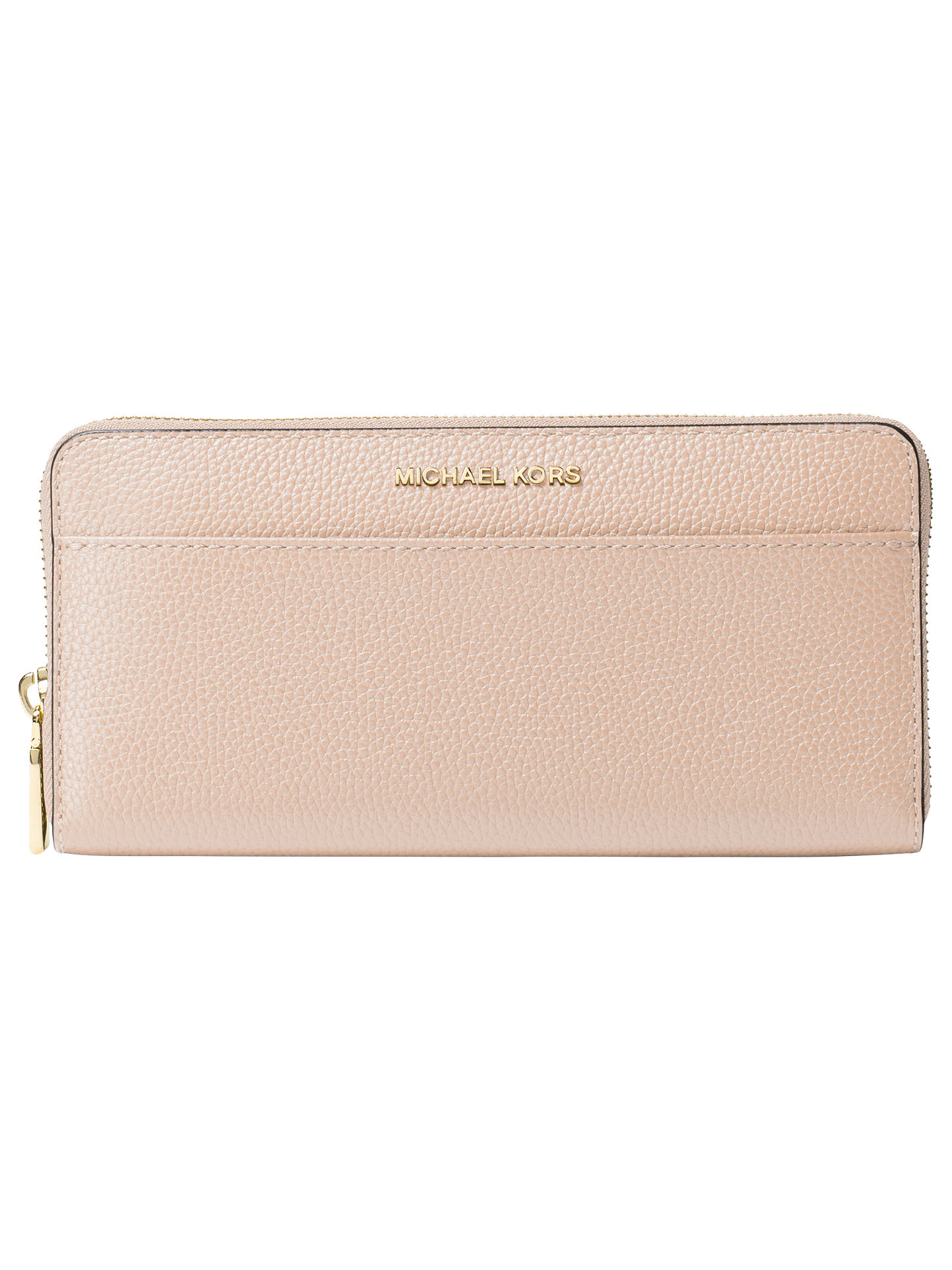 d60707885b22cf Buy MICHAEL Michael Kors Money Pieces Leather Continental Purse, Soft Pink  Online at johnlewis.