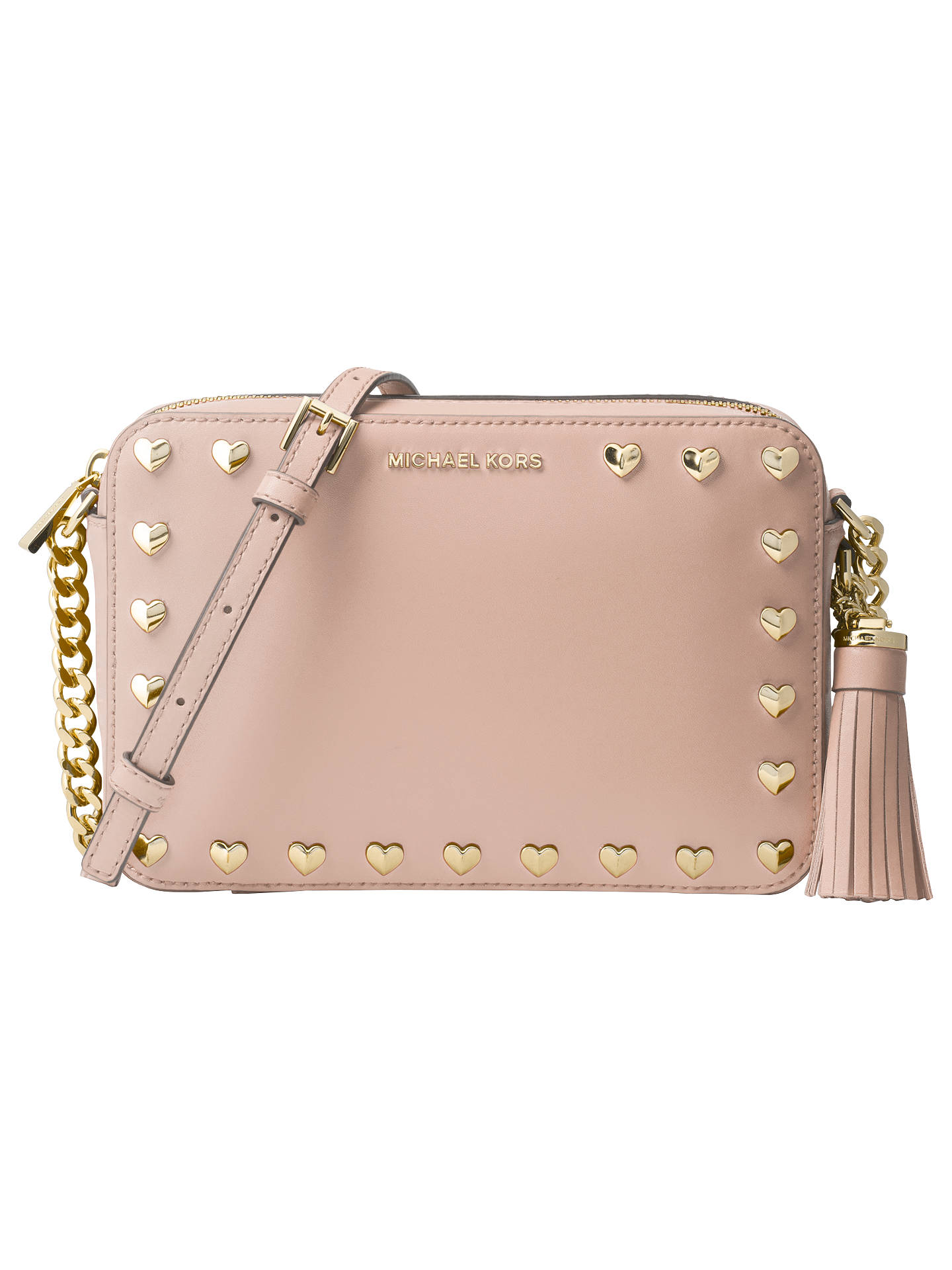 04cf028e70 MICHAEL Michael Kors Studded Ginny Leather Cross Body Camera Bag ...