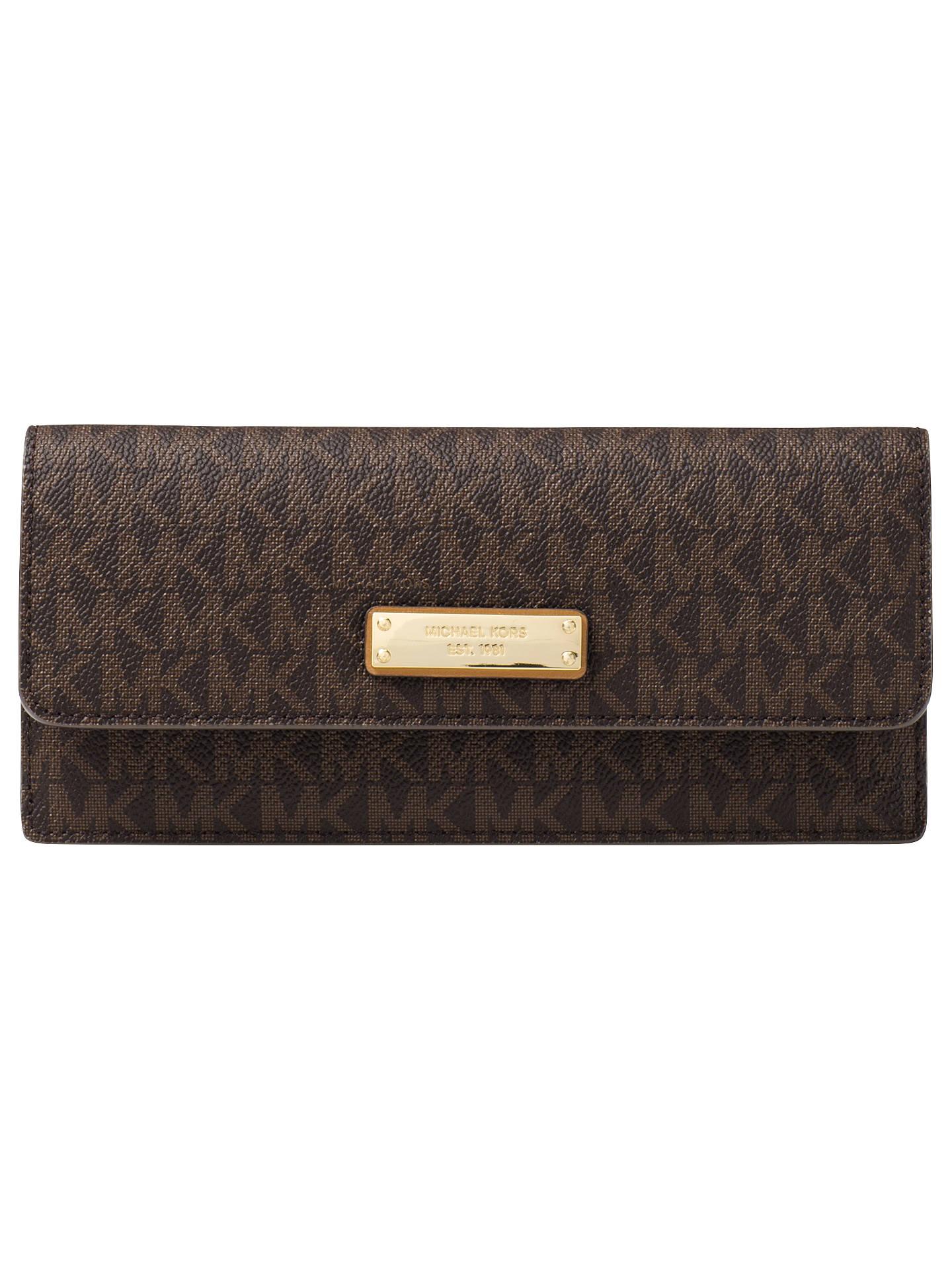 15fd16f4dbf Buy MICHAEL Michael Kors Money Pieces Leather Flat Purse, Brown Online at  johnlewis.com ...
