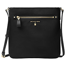 Buy MICHAEL Michael Kors Kelsey Large Cross Body Bag, Black Online at johnlewis.com
