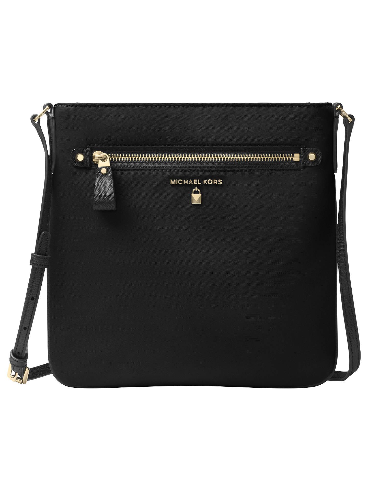 51b582bfb67f Buy MICHAEL Michael Kors Kelsey Large Cross Body Bag, Black Online at  johnlewis.com ...