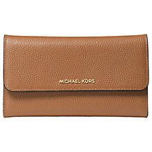Buy MICHAEL Michael Kors Money Pieces Leather Tri-Fold Purse, Acorn Online at johnlewis.com