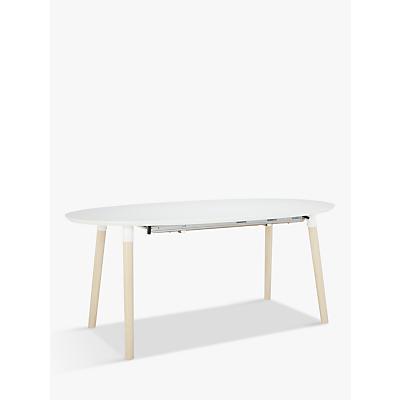 John Lewis & Partners Belina 6-10 Seater Extending Dining Table, White