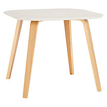 Buy House by John Lewis Anton Square 4 Seater Dining Table, Smoke Online at johnlewis.com