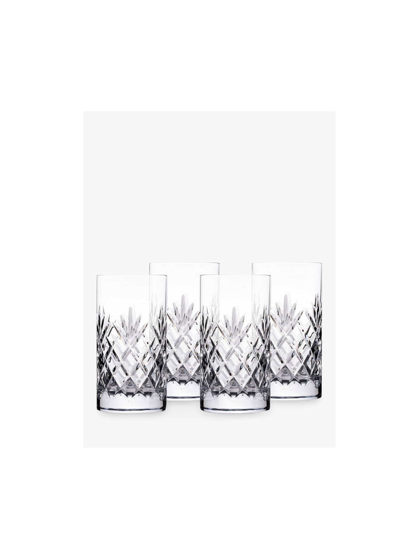 Buy Stuart Crystal York Cut Glass Highball Glasses, Clear, Set of 4 Online at johnlewis.com