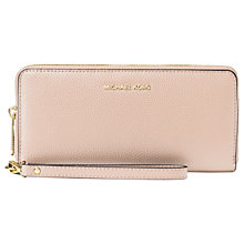 Buy MICHAEL Michael Kors Money Pieces Leather Continental Purse, Soft Pink Online at johnlewis.com