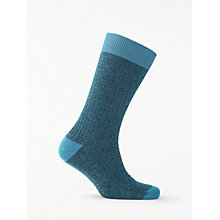 Buy Ted Baker Polbray Textured Rib Socks, One Size Online at johnlewis.com
