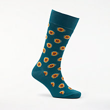 Buy Paul Smith Sun Motif Socks, One Size, Teal Online at johnlewis.com