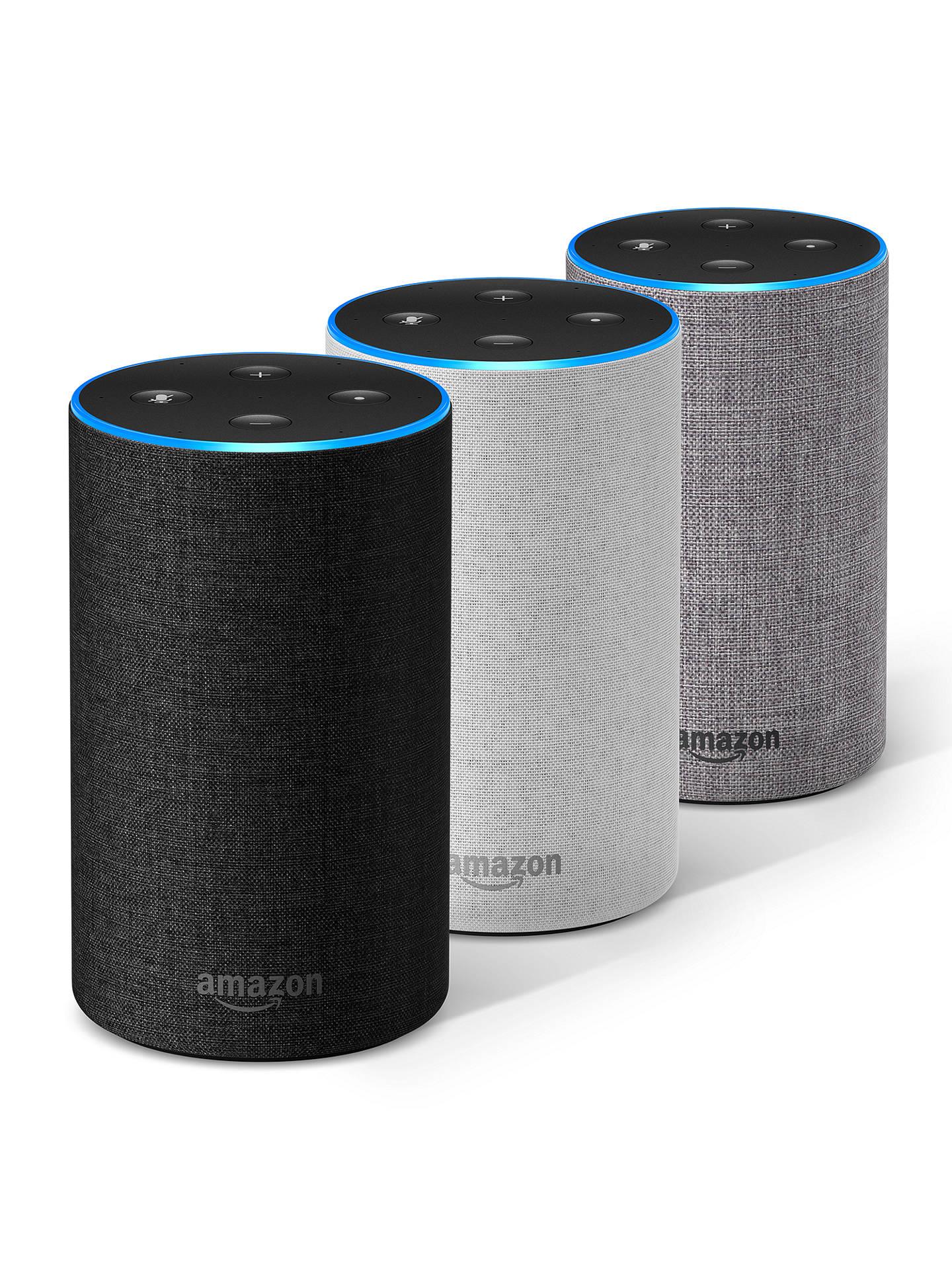 amazon echo smart speaker with alexa voice recognition. Black Bedroom Furniture Sets. Home Design Ideas