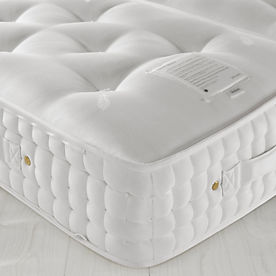 John Lewis Natural Collection Swaledale Wool 9000 Firm Support, King Size, Firm Tension Pocket Spring Zip Link Mattress