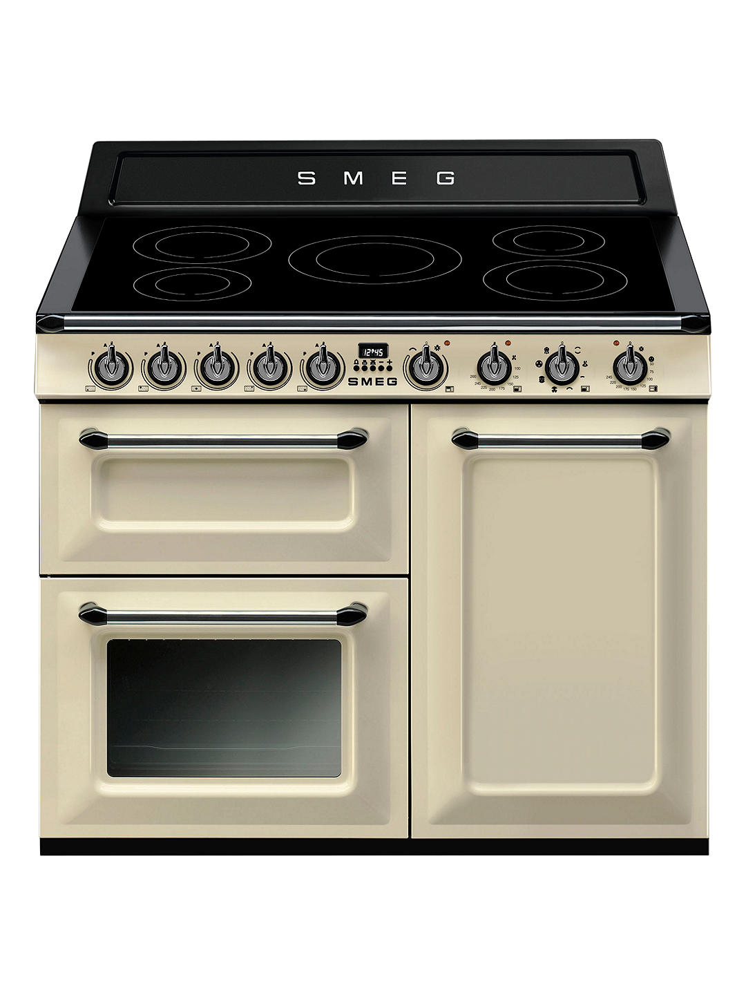 Buy Smeg Victoria TR103IP Range Cooker with Induction Hob, 100cm Wide, Cream Online at johnlewis.com