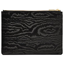 Buy Whistles Woodcut Velvet Medium Clutch, Black Online at johnlewis.com