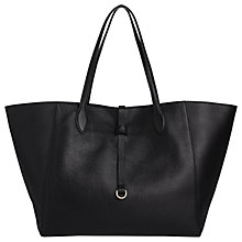 Buy Whistles Shaftesbury Soft Leather Tote Bag, Black Online at johnlewis.com