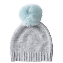 Buy Pure Collection Cashmere Pom Pom Hat, One Size Online at johnlewis.com
