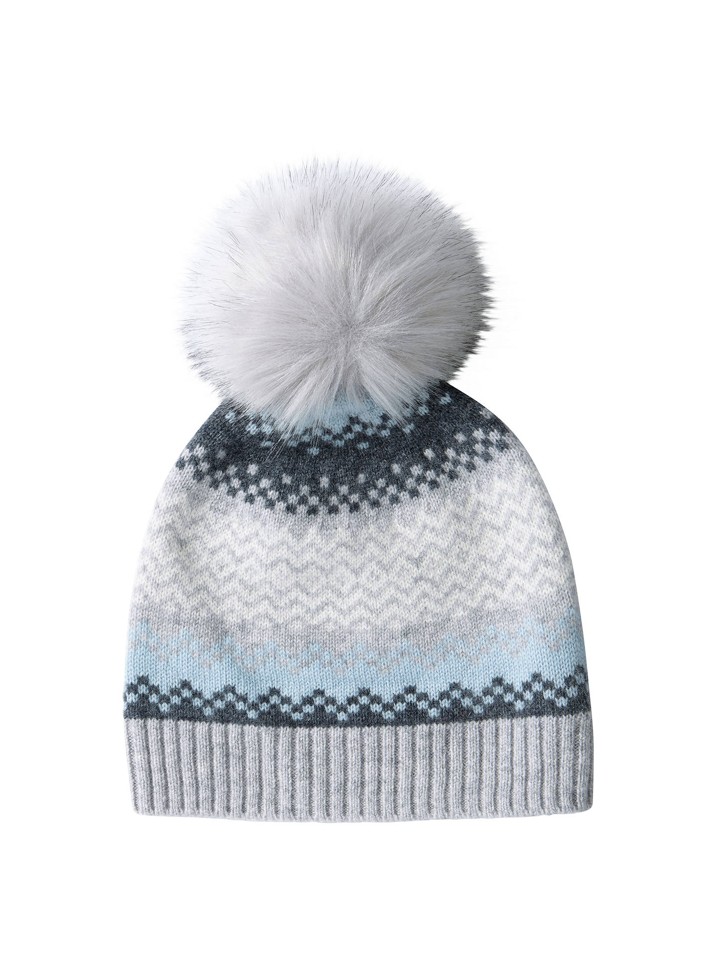 8a3d7a1e3d8 Buy Pure Collection Fair Isle Cashmere Pom Pom Hat