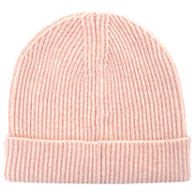 Buy Mint Velvet Apricot Fluffy Yarn Beanie, One Size, Light Pink Online at johnlewis.com