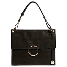 Buy Karen Millen Leather O Ring Flapover Shoulder Bag Online at johnlewis.com