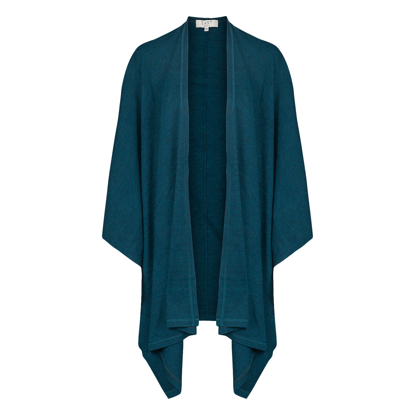 BuyEast Merino Wool Knitted Wrap, Teal Online at johnlewis.com