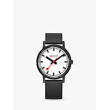 Buy Mondaine Unisex Essence Rubber Strap Watch Online at johnlewis.com