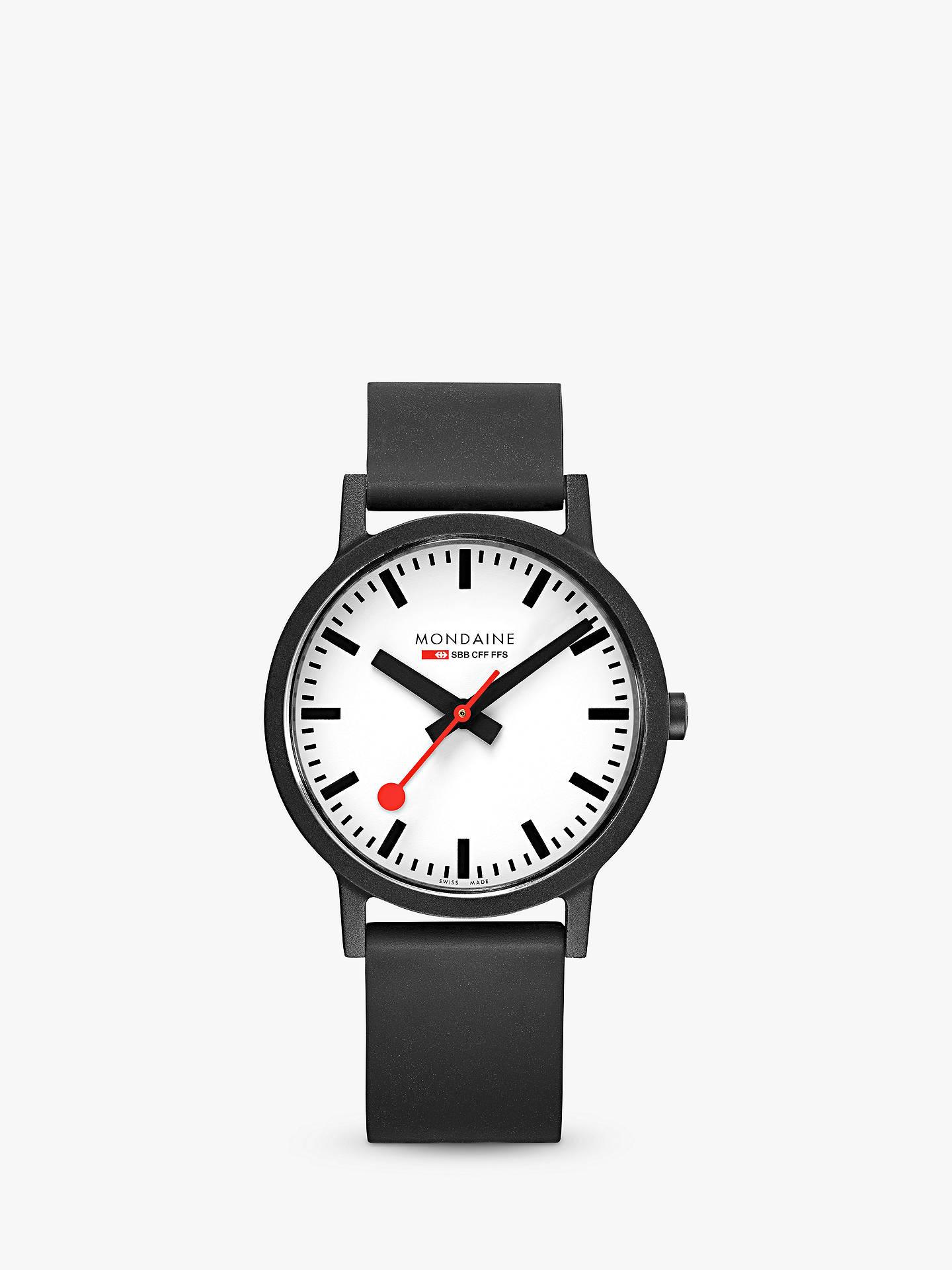 Mondaine Unisex Essence Rubber Strap Watch at John Lewis   Partners 7c4f126423