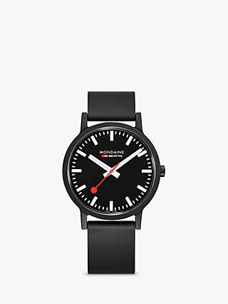 Mondaine Unisex Essence Rubber Strap Watch