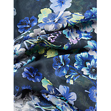Buy John Lewis Floral Print Scarf, Blueberry Online at johnlewis.com