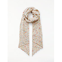 Buy John Lewis Pretty Ditsy Skinny Scarf, Cream Mix Online at johnlewis.com