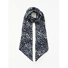 Buy John Lewis Skinny Animal Print Scarf, Grey Mix Online at johnlewis.com