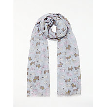 Buy John Lewis Scotty Dog Print Scarf, Grey Mix Online at johnlewis.com