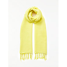 Buy John Lewis Wool Blend Fringe Scarf, Lemon Online at johnlewis.com