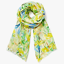 Buy John Lewis Watercolour Buttercup Floral Print Scarf, Yellow Mix Online at johnlewis.com