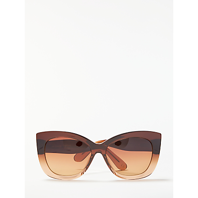 Modern Rarity Cat's Eye Sunglasses, Brown Ombre/Brown Gradient