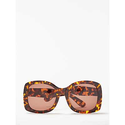 Modern Rarity Chunky Square Sunglasses, Tortoise/Brown