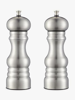 John Lewis & Partners Stainless Steel Salt and Pepper Mills, Set of 2