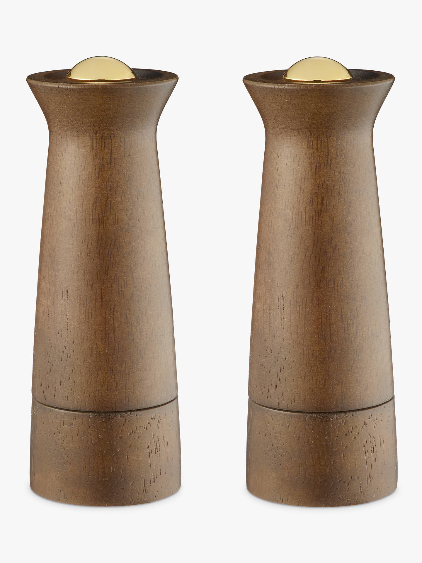 Buy John Lewis & Partners Forest Wood Salt and Pepper Mills, Natural/Brass, Set of 2 Online at johnlewis.com