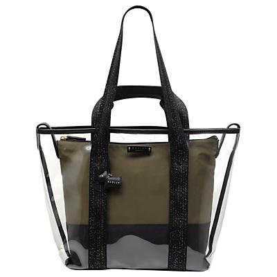 Radley Bell Court Large Multiway Shoulder Bag, Clear/Olive