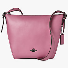 Buy Coach Dufflette Leather Shoulder Bag Online at johnlewis.com