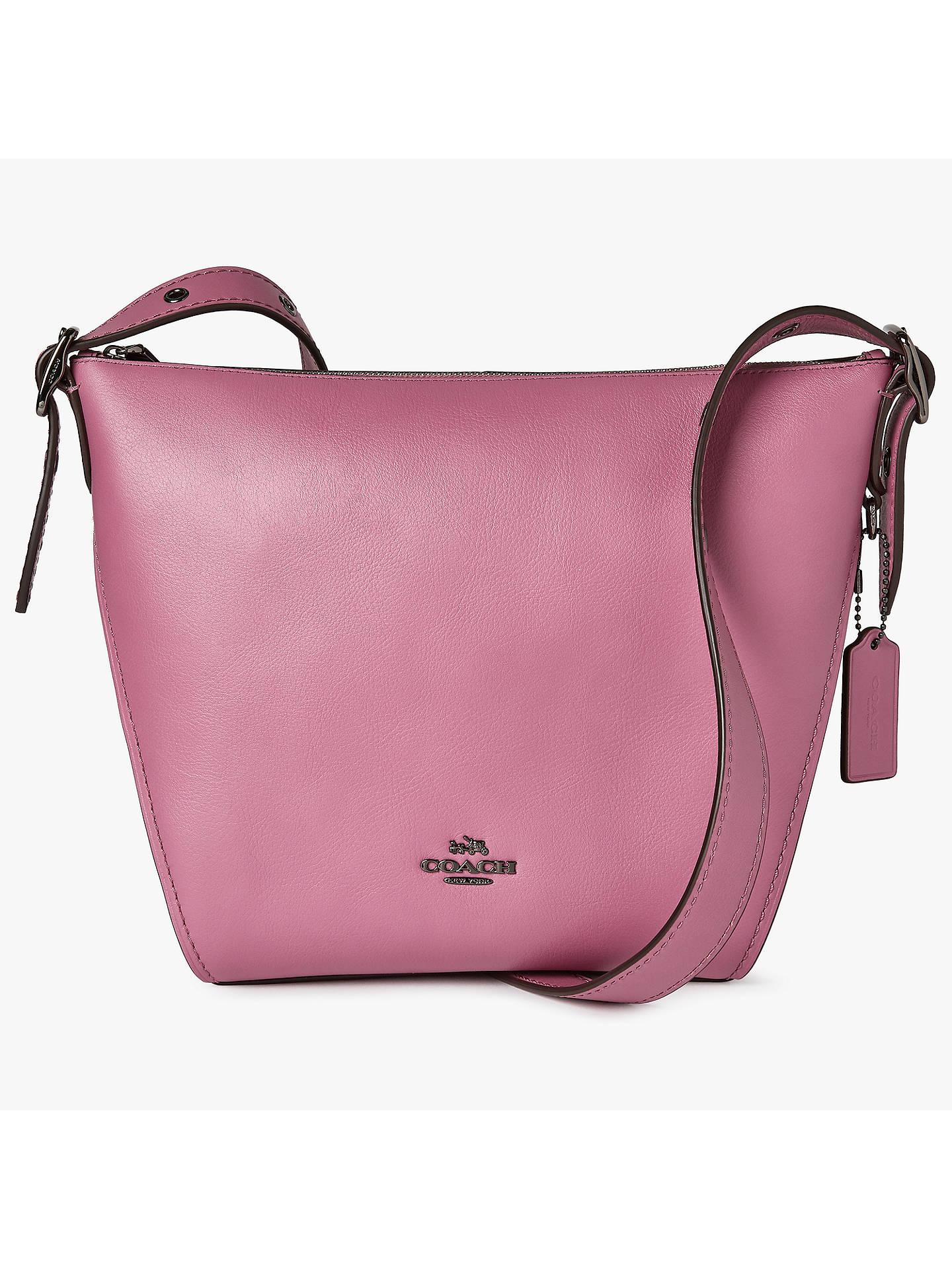 8076ca7024 Coach Dufflette Leather Shoulder Bag at John Lewis   Partners