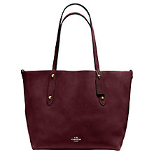 Buy Coach Market Large Reversible Suede Tote Bag, Oxblood/Black Online at johnlewis.com