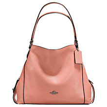 Buy Coach Edie 31 Polished Pebble Leather Shoulder Bag, Melon Online at johnlewis.com
